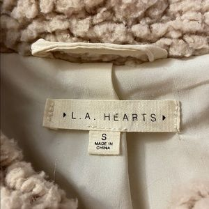 La Hearts Jackets & Coats - cropped teddy coat